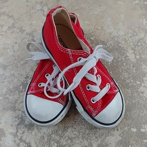 Red converse sneakers toddler 9